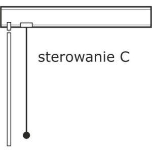 Pokrętło i sznurek po lewej